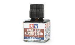 ACCENT COLOR PAINT -  TAMIYA WASH - BROWN (1.35 OZ.) -  PANEL LINE