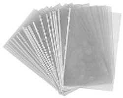 ACETATE POSTCARD HOLDERS, PACK OF 25 (6 1/8