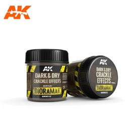ACRYLIC DIORAMA -  CRACKLE EFFECTS - DARK AND DRY (3 OZ) -  AK INTERACTIVE