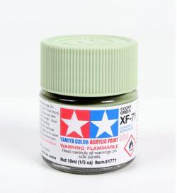 ACRYLIC PAINT -  FLAT COCKPIT GREEN (1/3 OZ) XF-71