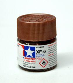 ACRYLIC PAINT -  FLAT COPPER (1/3 OZ) XF-6