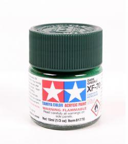 ACRYLIC PAINT -  FLAT DARK GREEN 2 (1/3 OZ) XF-70