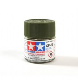 ACRYLIC PAINT -  FLAT DARK GREEN 2 (1/3 OZ) XF-89