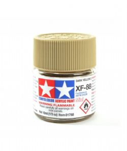 ACRYLIC PAINT -  FLAT DARK YELLOW 2 (1/3 OZ) XF-88