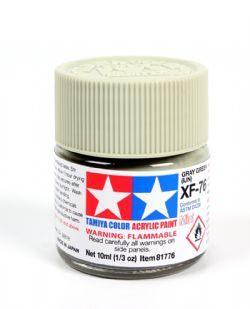 ACRYLIC PAINT -  FLAT GRAY-GREEN (IJN) (1/3 OZ) XF-76
