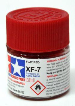 ACRYLIC PAINT -  FLAT INSIGNIA RED (1/3 OZ) XF-7