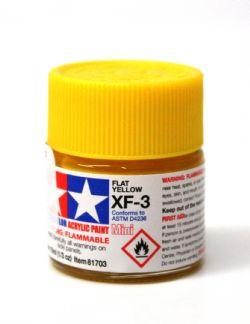 ACRYLIC PAINT -  FLAT YELLOW (1/3 OZ) XF-3