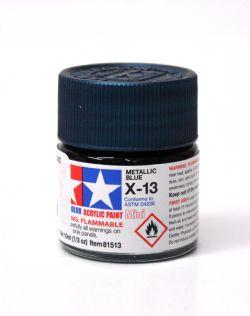 ACRYLIC PAINT -  METALLIC BLUE (1/3 OZ) X-13