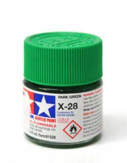 ACRYLIC PAINT -  PARK GREEN ACRYLIC (1/3 OZ) X-28