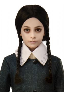 ADDAMS FAMILY -  WEDNESDAY WIG - BLACK (CHILD)