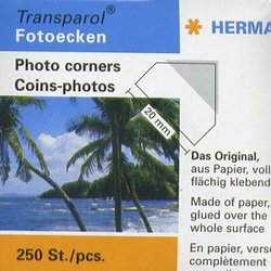 ADHESIVE CORNERS -  TRANSPARENT PHOTO CORNERS (250)