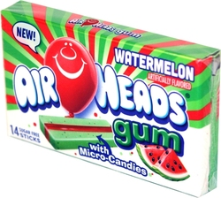 AIR HEADS -  BUBBLE GUM - WATERMELON