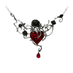 ALCHEMY GOTHIC -  BED OF BLOOD ROSES NECKLACE