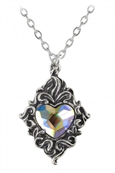 ALCHEMY GOTHIC -  CRYSTAL HEART NECKLACE