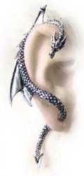 ALCHEMY GOTHIC -  DRAGON'S LURE EARRINGS