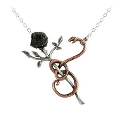 ALCHEMY GOTHIC -  ROSE OF EVE NECKLACE