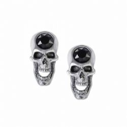 ALCHEMY GOTHIC -  SCREAMING SKULL EAR EARRINGS