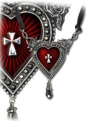 ALCHEMY GOTHIC -  THE SACRED HEART NECKLACE