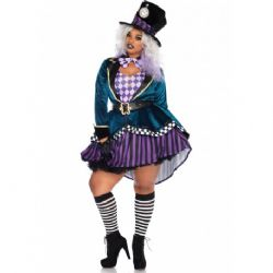 ALICE IN WONDERLAND -  HATTER MADNESS COSTUME (ADULT)