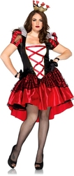 ALICE IN WONDERLAND -  ROYAL RED QUEEN COSTUME (PLUS SIZE)