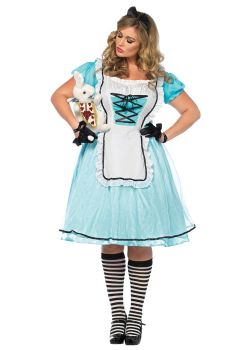 ALICE IN WONDERLAND -  TEA TIME ALICE COSTUME (ADULT)