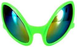ALIENS -  ALIEN EYES GLASSES - LIME GREEN/MIRROR