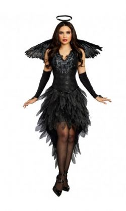 ANGEL -  ANGEL OF DARKNESS COSTUME (ADULT)