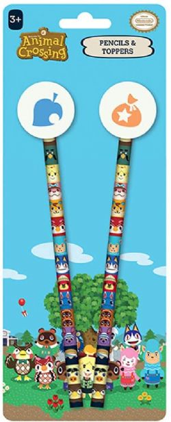 ANIMAL CROSSING -  PENCILS AND TOPPERS -  NEW HORIZON