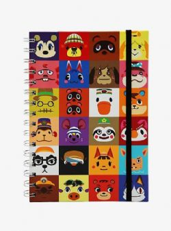 ANIMAL CROSSING -  SPIRAL NOTEBOOK - CHARACTERS