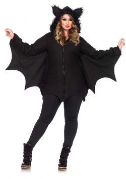 ANIMALS -  COZY BAT COSTUME (PLUS SIZE - 1X/2X) -  BAT
