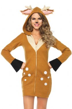 ANIMALS -  COZY FAWN COSTUME (ADULT) -  DEER
