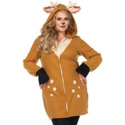 ANIMALS -  COZY FAWN COSTUME (PLUS SIZE - 1X/2X) -  DEER