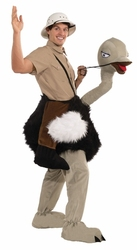 ANIMALS -  OSTRICH MASCOT (ADULT - ONE-SIZE UP TO SIZE 42) -  PIGGYBACK COSTUME