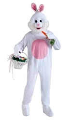 ANIMALS -  RABBIT MASCOT (ADULT - ONE-SIZE UP TO SIZE 42) -  LAPIN