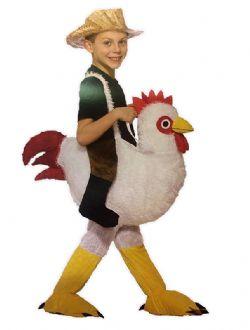 ANIMALS -  RIDE-A-CHICKEN COSTUME (CHILD)