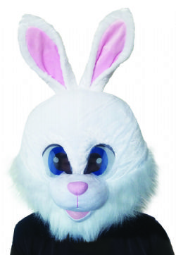ANIMALS -  WHITE RABBIT MASKOT HEAD