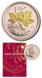 ANNUAL REPORT -  MAKING CHANGE -  2003 CANADIAN COINS 01