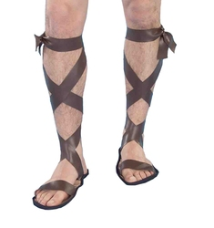 ANTIQUITY -  ROMAN SANDALS WITH STRAPS (ONE-SIZE) -  ROME