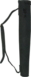 ARCHERY ACCESSORIES -  LEATHER HUNTER QUIVER - BLACK (SMALL)