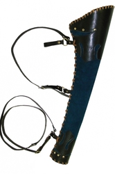 ARCHERY ACCESSORIES -  LEATHER RANGER QUIVER - BLUE