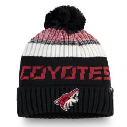 ARIZONA COYOTES -  BEANIE WITH POMPOM - BLACK