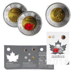 ARMISTICE COLLECTOR CARD -  2018 CANADIAN COINS
