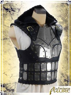 ARMORS -  SCOUNDREL ARMOR WITH HOOD AND STAINLESS STEEL - BLACK (LARGE)