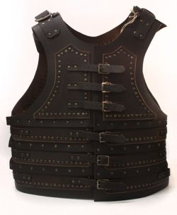 ARMORS -  STAGE LEATHER ARMOR - BROWN