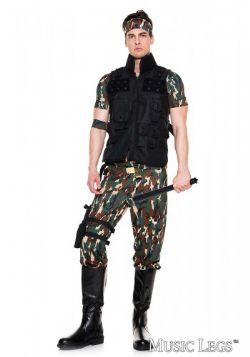 ARMY -  ARMY SOLDIER COSTUME (ADULT)