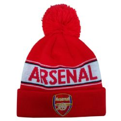 ARSENAL F.C. -  POM BEANIE - RED/WHITE