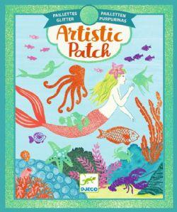 ARTISTIC PATCH -  OCEAN -  GLITTER