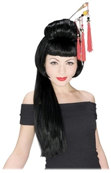ASIANS -  CHINESE GIRL WIG - BLACK (ADULT)