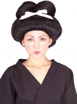 ASIANS -  GEISHA WIG - BLACK (ADULT)