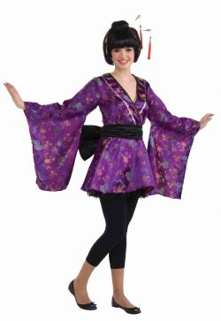 ASIATIQUES -  FORTUNE COOKIE COSTUME (TEEN -  ONE SIZE UP TO SIZE 9) -  GEISHA